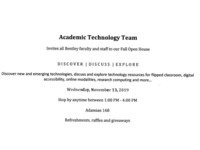 Academic Technology Team Open House