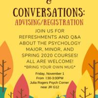 Coffee & Conversations: Advising/Registration