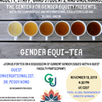 Gender Equi-Tea | Center for Gender Equity