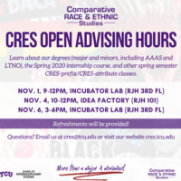 CRES Open Advising Hours
