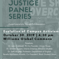 Justice Panel: Evolution of Campus Activism