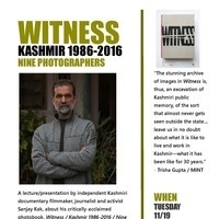 WITNESS - KASHMIR 1986-2016 NINE PHOTOGRAPHERS