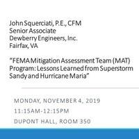 Civil Engineering Seminar:  John Squerciati, PE, CFM