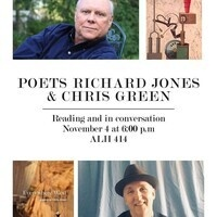 Poets Richard Jones and Chris Green: Reading in Conversation