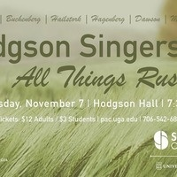 Hodgson Singers: All Things Rush On