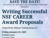 Writing Successful NSF CAREER Award Proposals