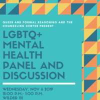 LGBTQ+ Mental Health Panel and Discussion