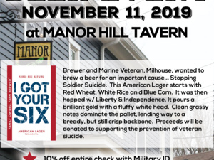 Beer Release For a Cause - I Got Your Six