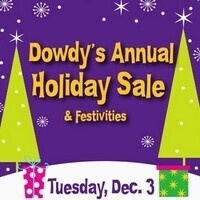 Dowdy's Annual Holiday Sale and Festivities
