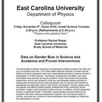 Physics Colloquium!- Professor Rachel Roper