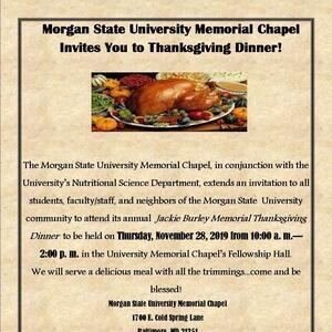 Thanksgiving Dinner at the University Memorial Chapel