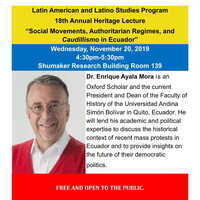 18th Annual Latin American and Latino Studies Heritage Lecture