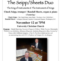 Guest Artist Series: Seipp/Sheets Duo, trumpet and organ.