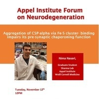 Appel Institute Neurodegeneration Forum