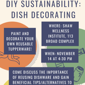 DIY Sustainability Dish Decorating