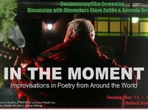 flyer announcing the movie In the Moment