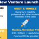 New Venture Launch Meet and Mingle Social