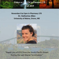 "BES Seminar: ""Rapid Loss of CO2 from the South Pacific Ocean  During the Last Glacial Termination"""
