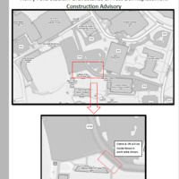 Construction Advisory: Temporary lane shift and sidewalk closure adjacent to the Tennis Hall of Fame within S14 parking lot from November 11-21, 2019