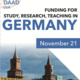Funding for Study, Research, Teaching in Germany Info Sessions