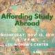 Affording Study Abroad