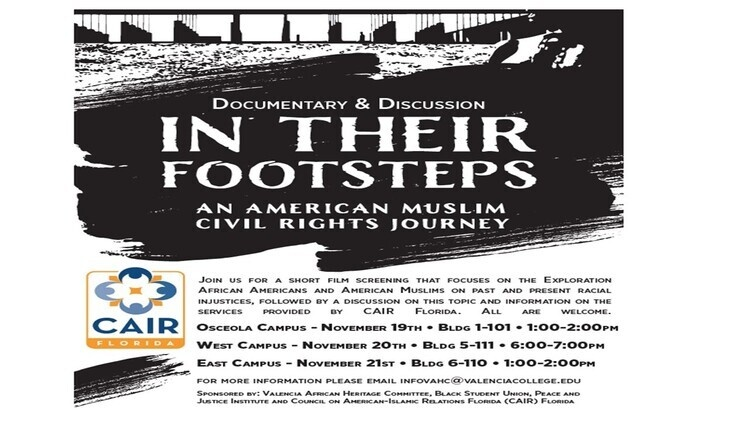 """""""In Their Footsteps:  An American Muslim Civil Rights Journey"""""""