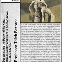 Modern Languages and Literatures Colloquium Series - Taieb Berrada