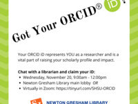 Research Promotion Drop-In Session: Claim Your ORCID iD!