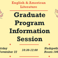 English and American Literature Graduate School Information Session