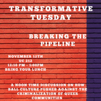 Transformative Tuesday - Breaking the Pipeline | Pride Center