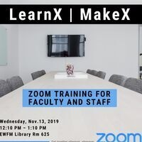 LearnX: Zoom Meeting Training for Faculty and Staff