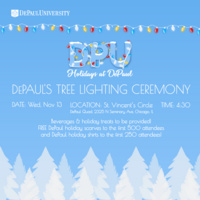 DePaul's Tree Lighting Ceremony