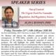 IAS Distinguished Speaker Series: Dr. Al Budney