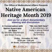 Native American Heritage Month  | Multicultural Affairs