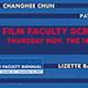 Faculty Biennial XVII Film Screenings