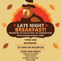 Residence Hall Association's Late Night Breakfast at Rathbone