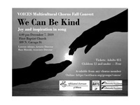 """""""We Can Be Kind"""" - VOICES Mulitcultural Chorus Fall Concert"""