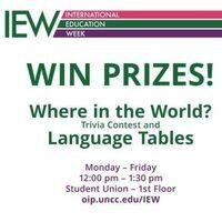 """""""Where in the World"""" Trivia & Language Tables"""