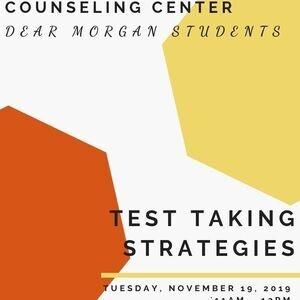 Dear Morgan Students - Test Taking Strategies