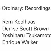 Enrique Walker | The Ordinary: Recordings