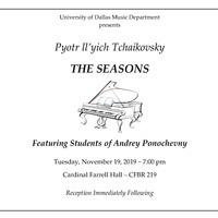 Tchaikovsky: THE SEASONS - Piano Recital