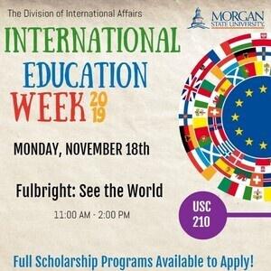 International Education Week 2019: Monday