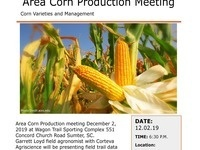 Area Corn Production Meeting