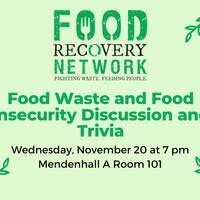 Food Recovery Network Discussion & Trivia