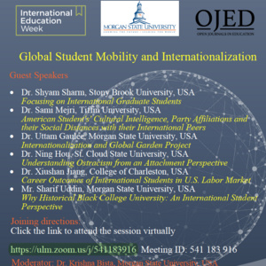 International Education Week 2019: Global Student Mobility and Internationalization