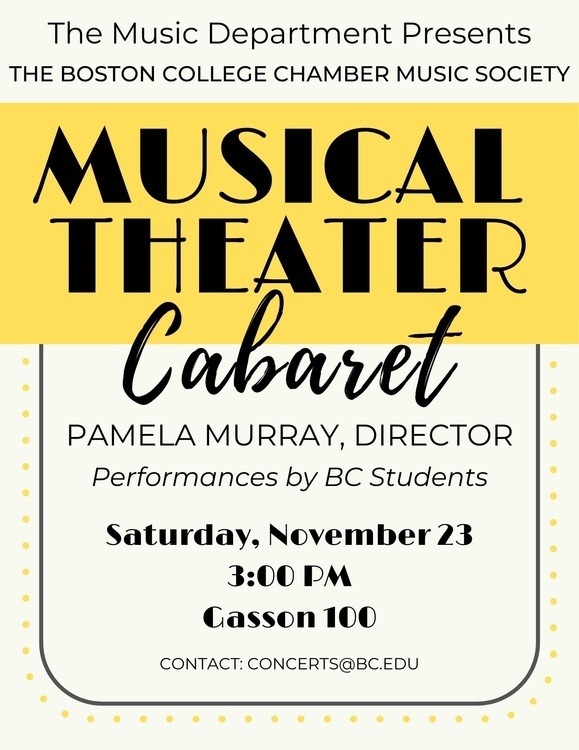 Musical Theatre Cabaret, Pamela Murray, director, Lindsay Albert, pianist