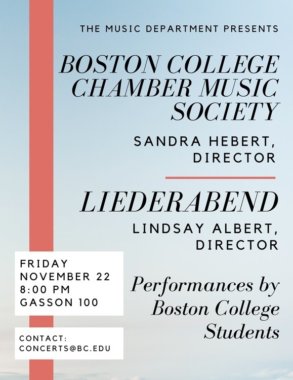 Boston College Chamber Music Society, Sandra Hebert, director