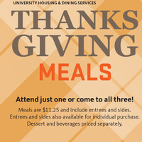 Thanksgiving Meal at McNary Dining Center