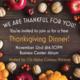 International Thanksgiving Meal