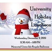 University Holiday Luncheon 2019 Details